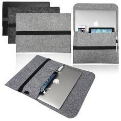LOVE MY CASE / MacBook Laptop Felt Sleeve Carrying Case, Cover, Bag / LIGHT GREY…