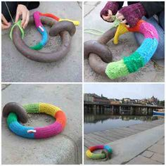 Making it happen in one of our cities: Nook & Cranny: Yarn bombing / Guerilla knitting