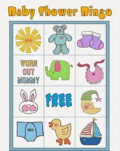 Bingo para Baby Shower para Imprimir Gratis. Bingo Baby Shower, Baby Shower Printables, Shower Party, Free Printables, Diy Baby Shower Decorations, Frozen Bebe, Baby Shawer, Blogger Templates, Fun