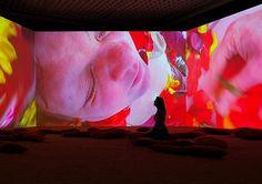 Pipilotti Rist,  Lungenflügel , 2009  Audio video installation  Installation view, 'Elixir – The video organism of Pipilotti Rist', Museum Boijmans van Beuningen, Rotterdam, Netherlands, 2009    Photo: Ernst Moritz