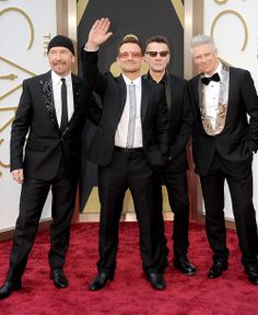 The Edge, Bono, Larry Mullen, Jr. and Adam Clayton of U2