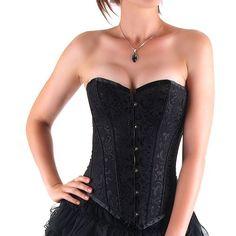 Black Brocade Corset  http://www.crazyinlove.uk.com/plastic-boned-corsets/2990-black-brocade-corset.html