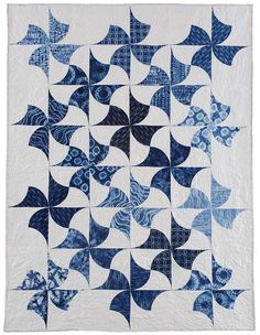 VIDEO TUTORIAL available on the site.  Indigo Spin Quilt Pattern