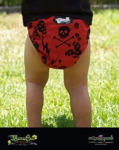 Punk Rockabilly Baby Diaper Cover Thunder by mamasanmaternity, $14.00