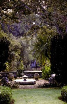 Garden of Casa del Herrero historic house and museum, Montecito, California