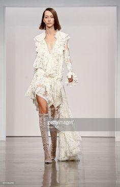 A model walks the runway at Zimmermann during New York Fashion Week September…