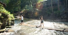 The Chai Lai Orchid bamboo rafting
