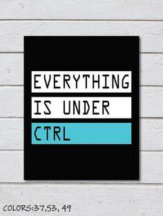 Printable Everything Is Under Ctrl Art For by TalkingPictures