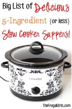 5 Ingredient Slow Cooker Suppers