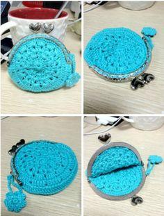 Monedero de Crochet para armazon Patron