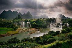 Les chutes de Detian, Chine