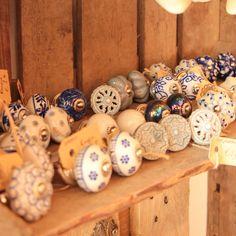 Indian hand painted door knobs