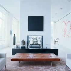Selldorf Architects :: Loft at Urban Glass House, expansive penthouse space. 6 br  the scale generous yet still intimate. floor to ceiling windows. large 2,000 sf terrace with views of lower manhattan sky line and Hudson River.  Walking on Sunshine