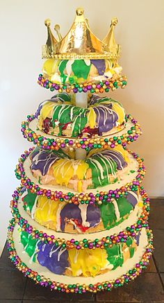 Here in Louisiana KING CAKES RULE !!! I made this for a Mardi Gras Ball in Crowley Louisiana !!!!