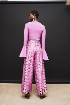 These maximalist trousers are wide-legged with a statement tonal overlay with circular pattern. High waist Wide flare shape Concealed zip fastening Model is and is wearing a UK 6 Circular Pattern, Lilac, Wide Leg, Oc, Trousers, Product Launch, Fashion Outfits, Legs, Model