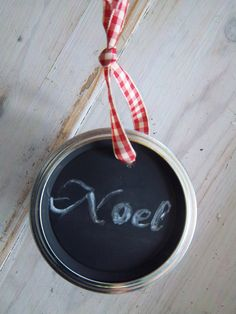 Upcycled Canning Lid Christmas Ornament