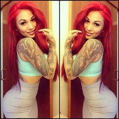 Red hair girl style