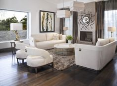 Eclectic accents make a statement in this living room completed by Adriana Hoyos. #luxeFL