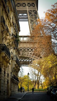 Gorgeous viewing angle of Eiffel Tower, Paris, France.  Source: tassels