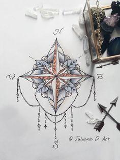 Compass Mandala By Jrizzybabbyxoxo On Etsy