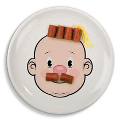 face plate excuse to play with your food Novelty items Cute Food, Good Food, Diy For Kids, Crafts For Kids, Sweet Station, Novelty Items, Gifts For Boys, Kids Decor, Dinner Plates