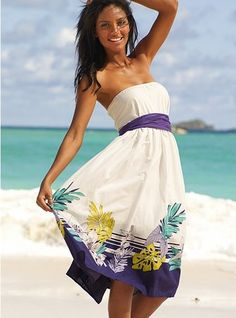 beach dress casual belt strapless prom summer for women