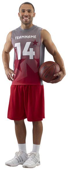 Mens sleeveless all-star basketball sublimated team uniforms