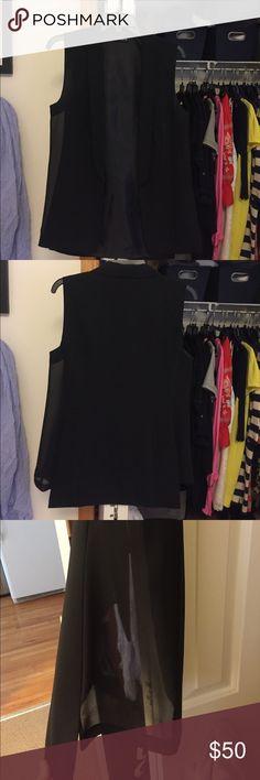 Black vest Sheer trim on sides Trouve Other