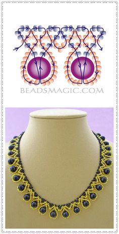 Have you been considering hand-made DIY jewelry? Have you contemplated learning how to produce these designs on your own? Discover the various methods needed to design rings, necklaces and much more for yourself and to share if you prefer. Diy Necklace Patterns, Beaded Jewelry Patterns, Bead Jewellery, Seed Bead Jewelry, Handmade Beaded Jewelry, Earrings Handmade, Handmade Bracelets, Beaded Bracelets Tutorial, Bijoux Diy