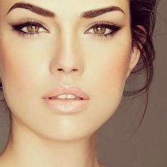 Gorgeous eye make-up... or she's just really gorgeous and can pull it off perfectly