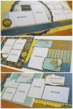 scrapbook generation: New Debbie Sanders kits! Scrapbook Layout Sketches, Scrapbook Templates, Card Sketches, Scrapbook Paper Crafts, Scrapbooking Layouts, Sketch 4, Paper Crafting, Disney Scrapbook, Baby Scrapbook