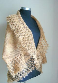 CARAMEL MOHAIR WARM CARDIGAN - READY TO SHIP- LIMITED EDITION Madame, Knitting, Fashion, Crochet Cape, Craft, Sweater Vests, Jackets, Boleros, Crocheting