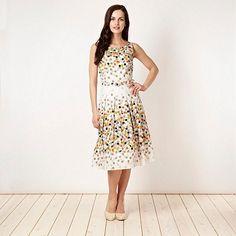 Collection White coloured spot dress- at Debenhams.com