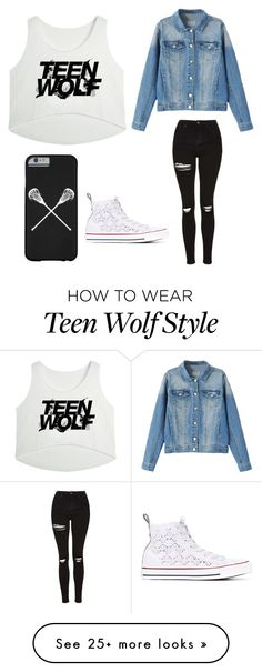 """Teen Wolf"" by xliefsbregje on Polyvore featuring Topshop and Converse"