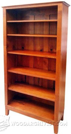 Bookcase - Furniture Plans and Projects | WoodArchivist.com