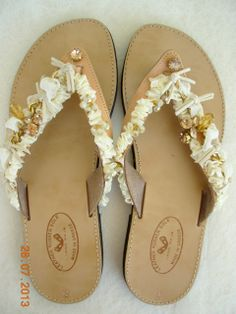 Decorated sandals