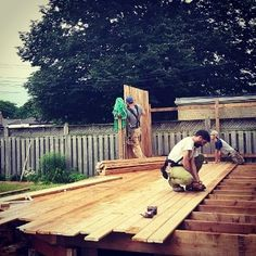 Big City Construction, Small Town Quality by the Straw Hat Twins Deck Design, Teamwork, Small Towns, Woodworking, Construction, Explore, City, World, Outdoor Decor