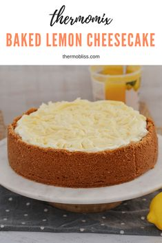 A simple and delicious Thermomix Baked Lemon Cheesecake. this really is the perfect dessert for any special occasion, Christmas or birthdays! Thermomix Cheesecake, Lemon Cheesecake Recipes, Thermomix Desserts, Thermomix Bread, Cheesecake Cake, Buckwheat Cake, Baking Tins, Savoury Cake, Mini Cakes