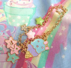 angelic, bijoux, color, cute, ice cream, jewelry, kawaii, pastel, pink, plastic, pretty, ribbon, star, stravaganza bijoux, sweet