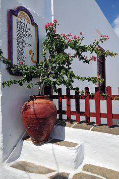 Bar / Drinks list in Apollonia village, Sifnos