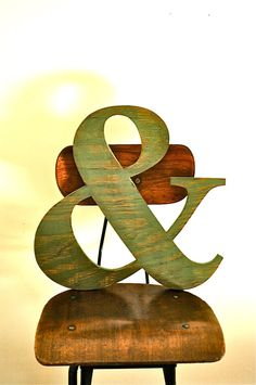 Ampersand (&) Large Wood Sign
