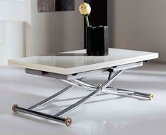 Space Saving Table Coffee Table Transforms Into Dining Table Lifts intended for sizing 1138 X 926 Coffee Table That Turns Into A Dining Room Table - When Foldable Coffee Table, Folding Coffee Table, Simple Coffee Table, Coffee Table Design, Coffee Tables, Folding Desk, Design Table, Expand Furniture, Smart Furniture