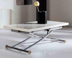 table gain de place relevable et extensible pour le salon avec salle à manger