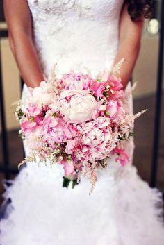 My favorite flower ~ Peony Wedding Bouquet Peony Bouquet Wedding, Peonies Bouquet, Pink Bouquet, Wedding Flowers, Pink Peonies, Bridal Bouquets, Astilbe Bouquet, Flower Bouquets, Boquet