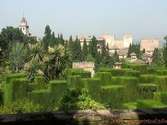 Jardines Bajos del Generalife, Alhambra Granada , España, Andalucia