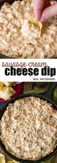 Sausage Cream Cheese Dip is an easy dip recipe that's creamy, slightly spicy & guaranteed to be a hit at any party! Sausage Cream Cheese Dip is an easy dip recipe that's creamy, slightly spicy & guaranteed to be a hit at any party! Cheese Dip Recipes, Appetizer Recipes, Party Appetizers, Party Dip Recipes, Easy Party Dips, Cream Cheese Recipes Dinner, Healthy Dip Recipes, Easy Recipes, Easy Appetizer Dips