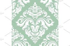Oriental vector pattern with damask, arabesque and floral elements. Damask Patterns, Arabesque, Vector Pattern, Abstract Backgrounds, Flower Designs, Oriental, Tapestry, Floral, Flowers