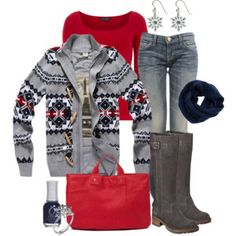Winter Navy and Red