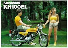 Find many great new & used options and get the best deals for KAWASAKI Poster KH100 Suitable to Frame at the best online prices at eBay! Free shipping for many products! Kawasaki Mule, Mini Bike, Classic Bikes, Gto, Repair Manuals, Cars And Motorcycles, Motorbikes, Surfboard, Color Pop