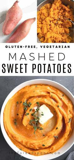 These irresistible Mashed Sweet Potatoes are filled with creamy sweet potatoes, tender butternut squash, butter, and a hint of sweet maple syrup. Lower in carbs and healthier than regular mashed potatoes, enjoy these silky smooth mashed sweet potatoes with lunch, dinner, or as an easy vegetarian and gluten-free holiday side dish.